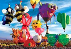 Funky Shapes Hot Air Balloons Balloons Jigsaw Puzzle