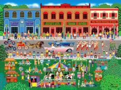 Home Town Parade Americana & Folk Art Jigsaw Puzzle