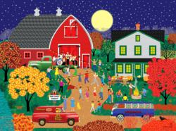 Barn Dance Americana & Folk Art Jigsaw Puzzle