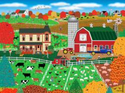 Perfect Day on the Farm Americana & Folk Art Jigsaw Puzzle