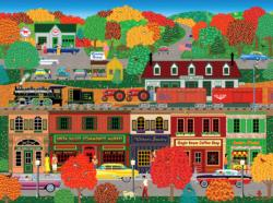 Warm Autumn Day Americana & Folk Art Jigsaw Puzzle