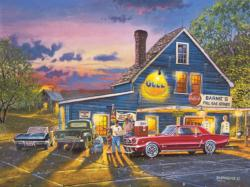 Taking the Back Roads Nostalgic / Retro Large Piece