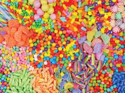 Colorful Candy Mix Sweets Impossible Puzzle