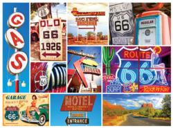 Route 66 Collage Large Piece