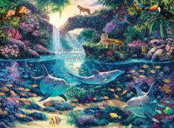 Jungle Paradise Jungle Animals Jigsaw Puzzle