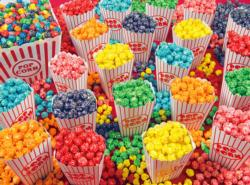 Colorful Popcorn Sweets Jigsaw Puzzle