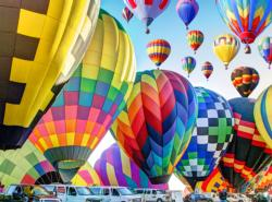 Hot Air Balloons Inflate on the Ground MI Balloons Jigsaw Puzzle