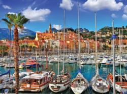 Colorful Port Town of Menton, France - Italy Italy Jigsaw Puzzle
