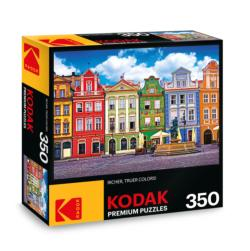 KODAK Premium Puzzles - Colorful Buildings, Ponzan, Poland Photography Jigsaw Puzzle