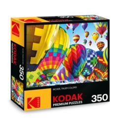KODAK Premium Puzzles - Hot Air Balloons Inflate on the Ground, Michigan Photography Jigsaw Puzzle