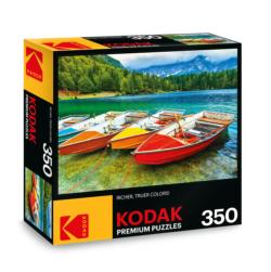 KODAK Premium Puzzles - Colorful Boats on the Lake Photography Jigsaw Puzzle