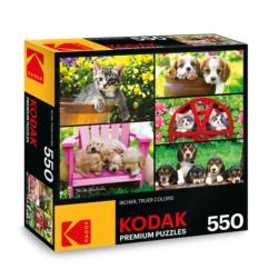 KODAK Premium Puzzles - Kittens & Puppies Photography Jigsaw Puzzle