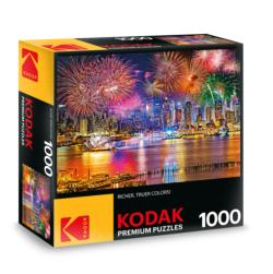 KODAK Premium Puzzles - Fireworks on the Hudson River by Midtown Manhattan, NYC Fireworks Jigsaw Puzzle