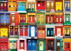 Montreal Doors Pattern / Assortment Jigsaw Puzzle