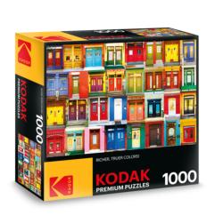 KODAK Premium Puzzles - Colorful Montreal Doors Photography Jigsaw Puzzle