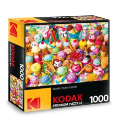 KODAK Premium Puzzles - Variety of Colorful Ice Cream Sweets Jigsaw Puzzle