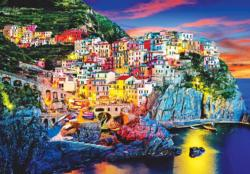 Beautiful view of Manarola at Night, Italy Italy Jigsaw Puzzle