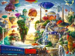 Floating Sky City Surreal Jigsaw Puzzle