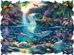 Jungle Paradise Jungle Animals Jigsaw Puzzle