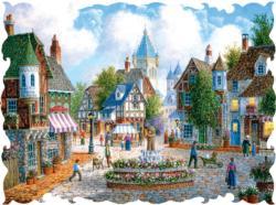 Newbeary Plaza Street Scene Jigsaw Puzzle