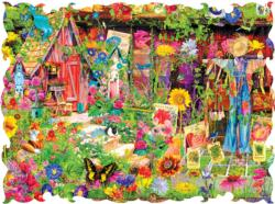 The Scarecrows Garden Collage Jigsaw Puzzle