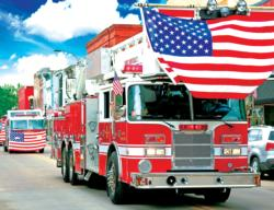 Fire Truck Parade - Scratch and Dent Vehicles Jigsaw Puzzle