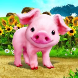 Animal Club Cube Baby Piglet Pig Children's Puzzles
