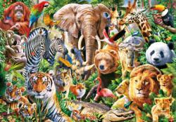 African Wildlife Animals Large Piece