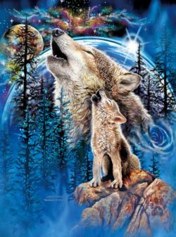 Wolves Harmony Forest Jigsaw Puzzle