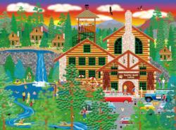 Dozing Bear Lodge Nature Jigsaw Puzzle