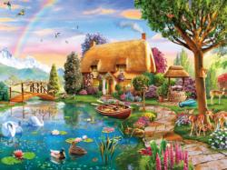 Lakeside Cottage Cottage / Cabin Jigsaw Puzzle