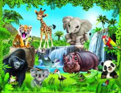 Animal Club 200 Piece Jungle Elephants Jigsaw Puzzle