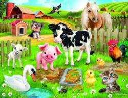 Animal Club 200 Piece Farm Pig Jigsaw Puzzle