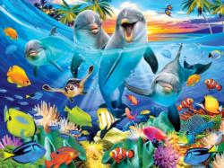 Playful Dolphins Fish Jigsaw Puzzle