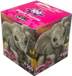 Animal Club Cube Baby Elephant Elephants Children's Puzzles