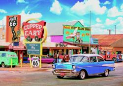 Seligmans Route 66, Arizona Americana & Folk Art Jigsaw Puzzle