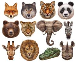 Wild Animals Animals Shaped Puzzle