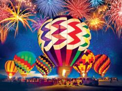 Light Up the Skies Balloon Festival Balloons Jigsaw Puzzle