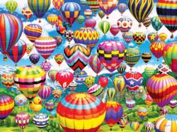 Colorful Balloons in the Sky Balloons Jigsaw Puzzle