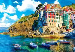 Cinque Terra Riomaggiola Village Italy Italy Jigsaw Puzzle
