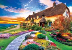Quaint Cottage by the Sea Cottage / Cabin Jigsaw Puzzle