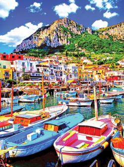 Colorful Boats in Capri Italy Italy Jigsaw Puzzle
