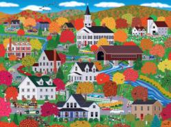 New England Autumn Thanksgiving Jigsaw Puzzle