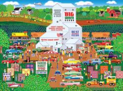 Country Corner Farmers Market Farm Jigsaw Puzzle