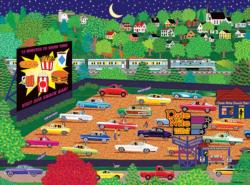 Date Night Drive Inn Nostalgic / Retro Jigsaw Puzzle