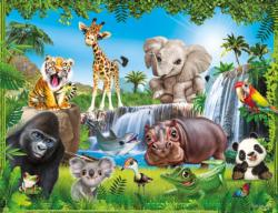 Animal Club 48PC - Jungle - Scratch and Dent Elephants Children's Puzzles