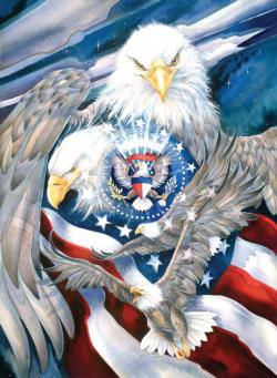 Sheltered Under Mighty Wings United States Jigsaw Puzzle