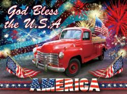 God Bless the USA United States Jigsaw Puzzle