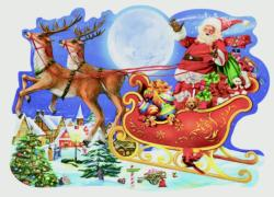 Sleigh Santa Shaped Puzzle
