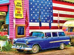 Route 66 Nostalgic / Retro Jigsaw Puzzle